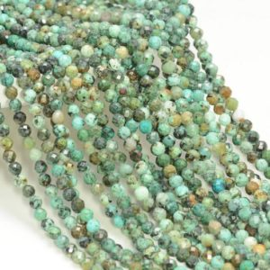 Shop Turquoise Faceted Beads! 4MM Afican Turquoise Gemstone Micro Faceted Round Grade Aa Beads 15.5inch BULK LOT 1,6,12,24 and 48 (80010140-A196) | Natural genuine faceted Turquoise beads for beading and jewelry making.  #jewelry #beads #beadedjewelry #diyjewelry #jewelrymaking #beadstore #beading #affiliate #ad