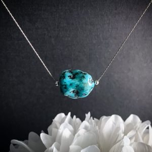 Genuine Turquoise Nugget Raw Stone Necklace, Turquoise Jewelry December Birthstone | Natural genuine Gemstone necklaces. Buy crystal jewelry, handmade handcrafted artisan jewelry for women.  Unique handmade gift ideas. #jewelry #beadednecklaces #beadedjewelry #gift #shopping #handmadejewelry #fashion #style #product #necklaces #affiliate #ad