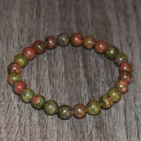 8 Mm Natural Unakite Bracelet, Beaded Bracelet For Women Fertility Bracelet, Unakite Pregnancy Bracelet, Stretch Bracelet, Yoga Bracelet | Natural genuine Gemstone jewelry. Buy crystal jewelry, handmade handcrafted artisan jewelry for women.  Unique handmade gift ideas. #jewelry #beadedjewelry #beadedjewelry #gift #shopping #handmadejewelry #fashion #style #product #jewelry #affiliate #ad