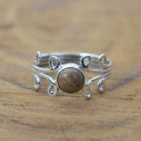 Unakite 925 Sterling Silver Handmade Jewelry Ring ~ Statement Rings ~ Gemstone Jewelry Ring | Natural genuine Gemstone jewelry. Buy crystal jewelry, handmade handcrafted artisan jewelry for women.  Unique handmade gift ideas. #jewelry #beadedjewelry #beadedjewelry #gift #shopping #handmadejewelry #fashion #style #product #jewelry #affiliate #ad