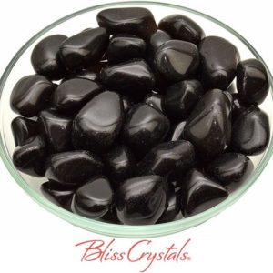 Shop Apache Tears Stones & Crystals! 1 APACHE TEARS Tumbled Stone aka Black Obsidian #AT29   Natural genuine stones & crystals in various shapes & sizes. Buy raw cut, tumbled, or polished gemstones for making jewelry or crystal healing energy vibration raising reiki stones. #crystals #gemstones #crystalhealing #crystalsandgemstones #energyhealing #affiliate #ad