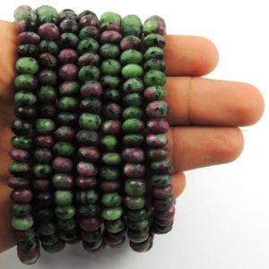 Shop Ruby Zoisite Rondelle Beads! 1 Strand  Ruby Zoisite Roundle Beads ,Faceted Gemstone Rondelles beads, jewelry making supplies 7mm-8mm 9 inchs  SP067 | Natural genuine rondelle Ruby Zoisite beads for beading and jewelry making.  #jewelry #beads #beadedjewelry #diyjewelry #jewelrymaking #beadstore #beading #affiliate #ad