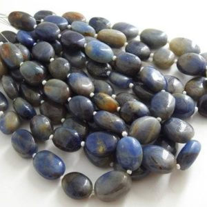 Shop Sapphire Chip & Nugget Beads! 100%Natural Blue Sapphire 8Inch Strand Smooth Tumble,Nuggets,Oval Shape Bead,Loose Stone,Handmade Wholesale Price New Arrival BSJ(TU5) | Natural genuine chip Sapphire beads for beading and jewelry making.  #jewelry #beads #beadedjewelry #diyjewelry #jewelrymaking #beadstore #beading #affiliate #ad