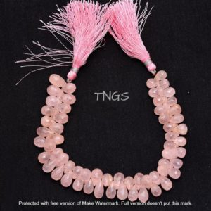 Shop Morganite Bead Shapes! Natural Pink Morganite Aquamarine Teardrop Shape Faceted Beads, 6mm-9mm, AAA Excellent Quality Morganite Drops, Loose Gemstone Beads | Natural genuine other-shape Morganite beads for beading and jewelry making.  #jewelry #beads #beadedjewelry #diyjewelry #jewelrymaking #beadstore #beading #affiliate #ad