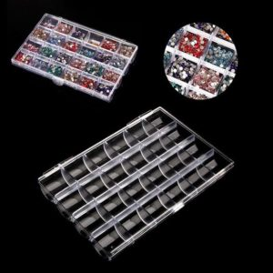 Shop Bead Storage Containers & Organizers! 10Pcs 24 Grids Plastic Empty Nail Storage Box Organizer Case Clear Transparent Nail Art Rhinestone Tips Jewelry Beads Container | Shop jewelry making and beading supplies, tools & findings for DIY jewelry making and crafts. #jewelrymaking #diyjewelry #jewelrycrafts #jewelrysupplies #beading #affiliate #ad