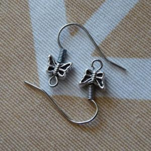Shop Ear Wires & Posts for Making Earrings! 10x Butterfly Earring Hooks, Dark Silver Tone Earring Wires French Hooks, Butterfly and Coil Ear Wires, Earring Findings, Earring Findings | Shop jewelry making and beading supplies, tools & findings for DIY jewelry making and crafts. #jewelrymaking #diyjewelry #jewelrycrafts #jewelrysupplies #beading #affiliate #ad