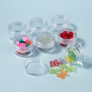Shop Bead Storage Containers & Organizers! 12 Mini Small Storage Containers Screw Top, Plastic Storage for Beads, Sequins, Medication, Sparkles, Makeup, Diamonds, Nail Art, 0.17 fl oz | Shop jewelry making and beading supplies, tools & findings for DIY jewelry making and crafts. #jewelrymaking #diyjewelry #jewelrycrafts #jewelrysupplies #beading #affiliate #ad