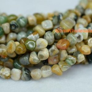 """Shop Ocean Jasper Chip & Nugget Beads! 15.5"""" 3~5mm Natural Ocean jasper agate pebbles beads, small Ocean jasper pebbles, Ocean jasper potato beads, small nugget beads 