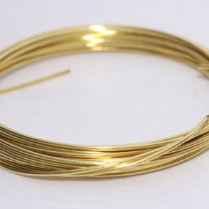 Shop Wire! 15 Gauge – 20 Feet Yellow Brass Wire – Bulk Wire, Jewelry-Making Wire WR18 | Shop jewelry making and beading supplies, tools & findings for DIY jewelry making and crafts. #jewelrymaking #diyjewelry #jewelrycrafts #jewelrysupplies #beading #affiliate #ad