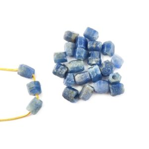 Shop Sapphire Chip & Nugget Beads! 2 Pcs Raw Sapphire 8-10mm Large Hole Center Drilled Beads Charm, 2mm Hole – September Birthstone Charms | Natural genuine chip Sapphire beads for beading and jewelry making.  #jewelry #beads #beadedjewelry #diyjewelry #jewelrymaking #beadstore #beading #affiliate #ad