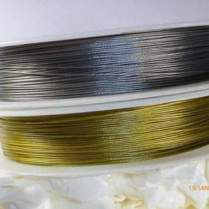 Shop Wire! 2 x 10 m jewelry wire nylon coated 0.38 mm silver | Shop jewelry making and beading supplies, tools & findings for DIY jewelry making and crafts. #jewelrymaking #diyjewelry #jewelrycrafts #jewelrysupplies #beading #affiliate #ad