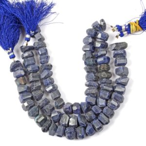 Shop Sapphire Chip & Nugget Beads! 25 pieces NATURAL Blue SAPPHIRE Tumble Gemstone 8 inche Full Strand Size 7X7 – 10X10MM Gemstones for jewellery making Drilled Gemstone Beads | Natural genuine chip Sapphire beads for beading and jewelry making.  #jewelry #beads #beadedjewelry #diyjewelry #jewelrymaking #beadstore #beading #affiliate #ad