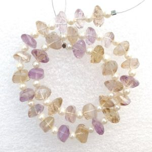 Shop Ametrine Chip & Nugget Beads! 33 Pcs, Natural Ametrine Faceted Laser Cut Rondelle Gemstone Beads, Briolette Faceted Laser Cut Rondelle Beads, AAA+ Ametrine Beads.   Natural genuine chip Ametrine beads for beading and jewelry making.  #jewelry #beads #beadedjewelry #diyjewelry #jewelrymaking #beadstore #beading #affiliate #ad