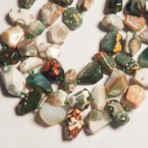 Shop Ocean Jasper Chip & Nugget Beads! 33 pcs Ocean jasper Beads, center drilled, Faceted, Freeform Nugget, | Natural genuine chip Ocean Jasper beads for beading and jewelry making.  #jewelry #beads #beadedjewelry #diyjewelry #jewelrymaking #beadstore #beading #affiliate #ad