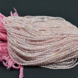 Shop Morganite Rondelle Beads! Natural Morganite Micro Faceted Center Drill Rondelles, 2mm-2.5mm~~Morganite Gemstone Beads 13 Inch | Natural genuine rondelle Morganite beads for beading and jewelry making.  #jewelry #beads #beadedjewelry #diyjewelry #jewelrymaking #beadstore #beading #affiliate #ad