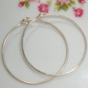 Shop Ear Wires & Posts for Making Earrings! 6 pcs, Handmade 25mm, 21 gauge,  Sterling Silver Beading Earring Hoop, 925 Sterling silver Ear Wires | Shop jewelry making and beading supplies, tools & findings for DIY jewelry making and crafts. #jewelrymaking #diyjewelry #jewelrycrafts #jewelrysupplies #beading #affiliate #ad