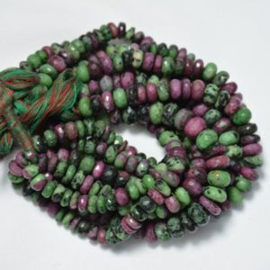 Shop Ruby Zoisite Rondelle Beads! 8mm Ruby Zoisite Rondelle Beads, Ruby Zoisite Faceted Beads, Ruby Zoisite Cut Rondelle Beads, Beads For Jewelry, 8 Inches Strand # BD 128 | Natural genuine rondelle Ruby Zoisite beads for beading and jewelry making.  #jewelry #beads #beadedjewelry #diyjewelry #jewelrymaking #beadstore #beading #affiliate #ad