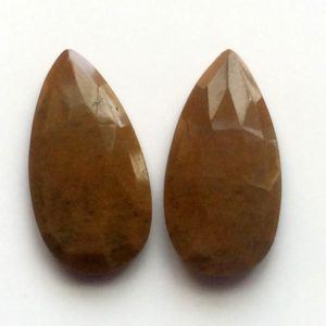 15x28mm Approx. Brown Agate Faceted Pear, 2 Pcs Matched Pair Agate, Agate Earrings, Agate Cabochon For Jewelry – GODP996 | Natural genuine beads Gemstone beads for beading and jewelry making.  #jewelry #beads #beadedjewelry #diyjewelry #jewelrymaking #beadstore #beading #affiliate #ad