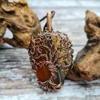 Orange Agate Tree Of Life Necklace, Yggdrasil Necklace, Wire Wrapped Pendant, Viking Necklace Men, Family Tree Necklace, Tree Amulet | Natural genuine Gemstone jewelry. Buy crystal jewelry, handmade handcrafted artisan jewelry for women.  Unique handmade gift ideas. #jewelry #beadedjewelry #beadedjewelry #gift #shopping #handmadejewelry #fashion #style #product #jewelry #affiliate #ad