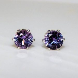 Shop Alexandrite Earrings! Alexandrite 5mm Studs ~ Alexandrite Earrings ~ Alexandrite Studs ~ Alexandrite Birthstone ~ Alexandrite Gemstone ~ June Birthstone Jewelry | Natural genuine Alexandrite earrings. Buy crystal jewelry, handmade handcrafted artisan jewelry for women.  Unique handmade gift ideas. #jewelry #beadedearrings #beadedjewelry #gift #shopping #handmadejewelry #fashion #style #product #earrings #affiliate #ad