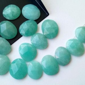 Shop Amazonite Cabochons! 14-16mm Amazonite Rose Cut Cabochons, Drilled Amazonite Free Form Shape Rose Cut Flat Back Cabochons, 5 Pcs – PDG269 | Natural genuine stones & crystals in various shapes & sizes. Buy raw cut, tumbled, or polished gemstones for making jewelry or crystal healing energy vibration raising reiki stones. #crystals #gemstones #crystalhealing #crystalsandgemstones #energyhealing #affiliate #ad