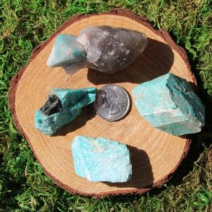 Shop Raw & Rough Amazonite Stones! Amazonite Raw Colorado F-I | Natural genuine stones & crystals in various shapes & sizes. Buy raw cut, tumbled, or polished gemstones for making jewelry or crystal healing energy vibration raising reiki stones. #crystals #gemstones #crystalhealing #crystalsandgemstones #energyhealing #affiliate #ad