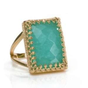 Shop Amazonite Rings! 14k Rose Gold Amazonite Ring · Statement Ring · Rose Gold Custom Ring · Engraved Ring · Custom Text Ring · Band Engraving · Gem Ring | Natural genuine Amazonite rings, simple unique handcrafted gemstone rings. #rings #jewelry #shopping #gift #handmade #fashion #style #affiliate #ad