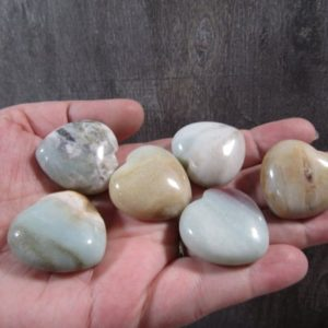 Shop Amazonite Shapes! Amazonite Medium Heart K208 | Natural genuine stones & crystals in various shapes & sizes. Buy raw cut, tumbled, or polished gemstones for making jewelry or crystal healing energy vibration raising reiki stones. #crystals #gemstones #crystalhealing #crystalsandgemstones #energyhealing #affiliate #ad