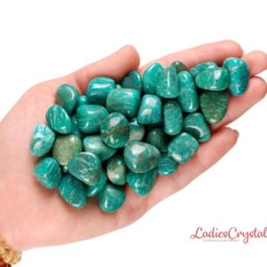 Shop Tumbled Amazonite Crystals & Pocket Stones! Set Of 3 Amazonite Russia Tumbled Stones, Amazonite Tumbled Stones, Zodiac Amazonite Stones, Healing Amazonite Stones, Tumbled Set Stones | Natural genuine stones & crystals in various shapes & sizes. Buy raw cut, tumbled, or polished gemstones for making jewelry or crystal healing energy vibration raising reiki stones. #crystals #gemstones #crystalhealing #crystalsandgemstones #energyhealing #affiliate #ad