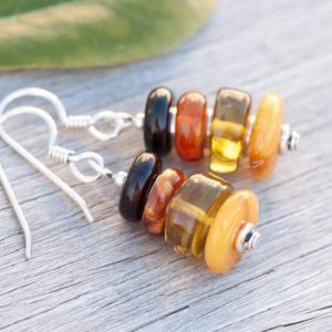 Shop Amber Earrings! Natural Amber Earrings, Baltic Amber Earrings, Honey Amber, Green Amber, Four Varieties of Amber, Golden Earrings, Sterling Silver   Natural genuine Amber earrings. Buy crystal jewelry, handmade handcrafted artisan jewelry for women.  Unique handmade gift ideas. #jewelry #beadedearrings #beadedjewelry #gift #shopping #handmadejewelry #fashion #style #product #earrings #affiliate #ad