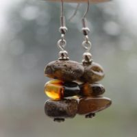 Amber Earrings, Real Amber Earring, Fossil Amber Dangle Earrings, Genuine Baltic Amber, Dangle Amber Earrings, Natural Jewelry | Natural genuine Gemstone jewelry. Buy crystal jewelry, handmade handcrafted artisan jewelry for women.  Unique handmade gift ideas. #jewelry #beadedjewelry #beadedjewelry #gift #shopping #handmadejewelry #fashion #style #product #jewelry #affiliate #ad