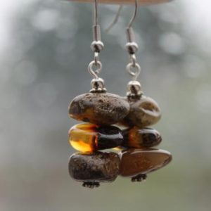 Shop Amber Earrings! Amber Earrings, Real Amber Earring, Fossil Amber Dangle Earrings, Genuine Baltic Amber, Dangle Amber Earrings, Natural Jewelry   Natural genuine Amber earrings. Buy crystal jewelry, handmade handcrafted artisan jewelry for women.  Unique handmade gift ideas. #jewelry #beadedearrings #beadedjewelry #gift #shopping #handmadejewelry #fashion #style #product #earrings #affiliate #ad