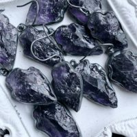Amethyst Earrings, Raw Amethyst | Natural genuine Gemstone jewelry. Buy crystal jewelry, handmade handcrafted artisan jewelry for women.  Unique handmade gift ideas. #jewelry #beadedjewelry #beadedjewelry #gift #shopping #handmadejewelry #fashion #style #product #jewelry #affiliate #ad