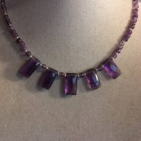 Amethyst Necklace – February Birthstone – Purple Jewelry – Sterling Silver – Gemstone Jewellery – Beaded | Natural genuine Gemstone jewelry. Buy crystal jewelry, handmade handcrafted artisan jewelry for women.  Unique handmade gift ideas. #jewelry #beadedjewelry #beadedjewelry #gift #shopping #handmadejewelry #fashion #style #product #jewelry #affiliate #ad