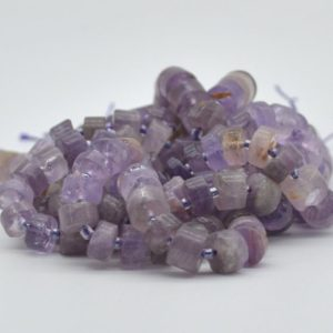 """Shop Amethyst Rondelle Beads! High Quality Grade A Natural Hand Polished Light Amethyst Semi-Precious Gemstone Rondelle / Spacer Beads – approx 10mm x 5mm – 15.5"""" strand   Natural genuine rondelle Amethyst beads for beading and jewelry making.  #jewelry #beads #beadedjewelry #diyjewelry #jewelrymaking #beadstore #beading #affiliate #ad"""