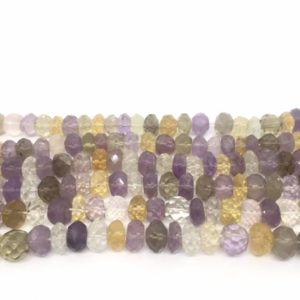 Shop Ametrine Rondelle Beads! Ametrine Beads,Ametrine Faceted Rondelle Beads, Natural Ametrine Faceted Beads,Ametrine Necklace,Ametrine Rondelle Beads,9 Inch strand,5X9 | Natural genuine rondelle Ametrine beads for beading and jewelry making.  #jewelry #beads #beadedjewelry #diyjewelry #jewelrymaking #beadstore #beading #affiliate #ad