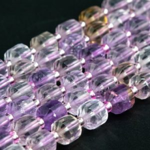 Shop Ametrine Faceted Beads! Genuine Natural Ametrine Loose Beads Faceted Bicone Barrel Drum Shape 8x7mm   Natural genuine faceted Ametrine beads for beading and jewelry making.  #jewelry #beads #beadedjewelry #diyjewelry #jewelrymaking #beadstore #beading #affiliate #ad