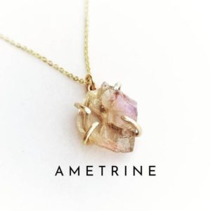 Shop Ametrine Necklaces! AMETRINE Necklace | Amethyst Citrine Crystal Necklace | Raw Ametrine 14k Gold Filled Necklace | Natural genuine Ametrine necklaces. Buy crystal jewelry, handmade handcrafted artisan jewelry for women.  Unique handmade gift ideas. #jewelry #beadednecklaces #beadedjewelry #gift #shopping #handmadejewelry #fashion #style #product #necklaces #affiliate #ad