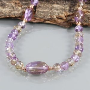 Shop Ametrine Necklaces! Ametrine Necklace Ametrine Gemstone Necklace Rose Gold Filled Gemstone Jewelry Healing Gemstone Jewelry Multi Color Ametrine Beads Necklace | Natural genuine Ametrine necklaces. Buy crystal jewelry, handmade handcrafted artisan jewelry for women.  Unique handmade gift ideas. #jewelry #beadednecklaces #beadedjewelry #gift #shopping #handmadejewelry #fashion #style #product #necklaces #affiliate #ad