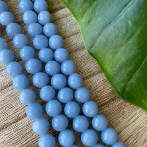 Shop Angelite Beads! Angelite Bead Strand, 8mm, Angelite Beads | Natural genuine other-shape Angelite beads for beading and jewelry making.  #jewelry #beads #beadedjewelry #diyjewelry #jewelrymaking #beadstore #beading #affiliate #ad