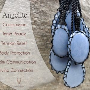 Shop Angelite Pendants! Angelite Crystal Pendant, Macramé Gemstone Necklace for Women and Men, Spiritual Gifts, Light Blue Stone Necklace, Supernatural Jewelry | Natural genuine Angelite pendants. Buy crystal jewelry, handmade handcrafted artisan jewelry for women.  Unique handmade gift ideas. #jewelry #beadedpendants #beadedjewelry #gift #shopping #handmadejewelry #fashion #style #product #pendants #affiliate #ad