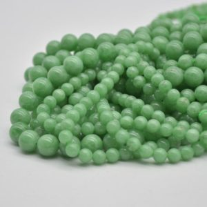 """Shop Angelite Beads! High Quality Grade A Dark Green Angelite Semi-precious Gemstone Round Beads – 6mm, 8mm, 10mm Sizes – Approx 15.5"""" Strand 