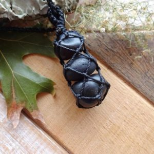 Shop Apache Tears Pendants! Apache Tears, Onyx, Shungite strong protection amulet / healing pendant necklaces for men | Natural genuine Apache Tears pendants. Buy handcrafted artisan men's jewelry, gifts for men.  Unique handmade mens fashion accessories. #jewelry #beadedpendants #beadedjewelry #shopping #gift #handmadejewelry #pendants #affiliate #ad
