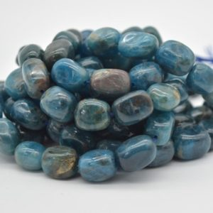 """Shop Apatite Chip & Nugget Beads! High Quality Grade A Natural Apatite Semi-precious Gemstone Large Nugget Tumblestone Beads – approx 12mm – 16mm x 10mm – 12mm – 15.5"""" strand   Natural genuine chip Apatite beads for beading and jewelry making.  #jewelry #beads #beadedjewelry #diyjewelry #jewelrymaking #beadstore #beading #affiliate #ad"""