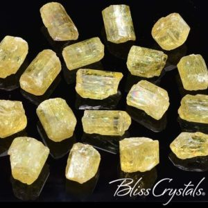 Shop Raw & Rough Apatite Stones! 2 Gemmy YELLOW APATITE Rough Crystal Small Size (25 Carat TW) Mineral for Motivation Positive Energy #JN02 | Natural genuine stones & crystals in various shapes & sizes. Buy raw cut, tumbled, or polished gemstones for making jewelry or crystal healing energy vibration raising reiki stones. #crystals #gemstones #crystalhealing #crystalsandgemstones #energyhealing #affiliate #ad