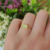 Raw Apatite Ring, Yellow Apatite Ring, Raw Gemstone Ring, Alternative Engagement Ring, Raw Crystal Ring, Gold Promise Ring Apatite Boho Ring   Natural genuine Gemstone jewelry. Buy handcrafted artisan wedding jewelry.  Unique handmade bridal jewelry gift ideas. #jewelry #beadedjewelry #gift #crystaljewelry #shopping #handmadejewelry #wedding #bridal #jewelry #affiliate #ad