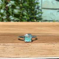 Womens Silver Ring With Stone, Blue Apatite Gemstone Ring, Gift For Friend | Natural genuine Gemstone jewelry. Buy crystal jewelry, handmade handcrafted artisan jewelry for women.  Unique handmade gift ideas. #jewelry #beadedjewelry #beadedjewelry #gift #shopping #handmadejewelry #fashion #style #product #jewelry #affiliate #ad