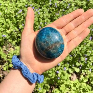 Shop Stone Spheres, Hearts & Other Shapes! Large Apatite Palm Stone   Natural genuine stones & crystals in various shapes & sizes. Buy raw cut, tumbled, or polished gemstones for making jewelry or crystal healing energy vibration raising reiki stones. #crystals #gemstones #crystalhealing #crystalsandgemstones #energyhealing #affiliate #ad