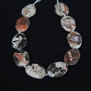Shop Ocean Jasper Bead Shapes! Approx 10pcs,New Sale,Natural Ocean Jasper Beads,Large Thick Slab Cut Beads Bulk,Raw Faceted Jasper Oval Shaped Beads Pendant Necklace | Natural genuine other-shape Ocean Jasper beads for beading and jewelry making.  #jewelry #beads #beadedjewelry #diyjewelry #jewelrymaking #beadstore #beading #affiliate #ad