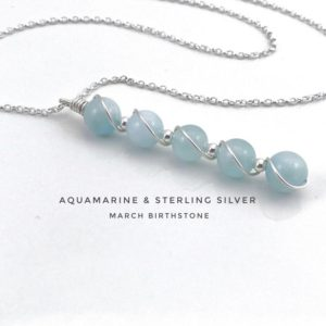 Shop Aquamarine Pendants! Aquamarine Pendant Necklace Sterling Silver, march birthstone   Natural genuine Aquamarine pendants. Buy crystal jewelry, handmade handcrafted artisan jewelry for women.  Unique handmade gift ideas. #jewelry #beadedpendants #beadedjewelry #gift #shopping #handmadejewelry #fashion #style #product #pendants #affiliate #ad